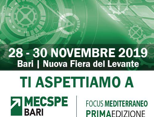 Tutto pronto per il MECSPE di Bari, la fiera internazionale dell'industria manifatturiera e della fabbrica intelligente