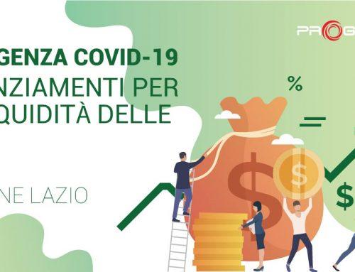 COVID-19 | Fondo Rotativo Piccolo Credito Regione Lazio: 65 MLN in finanziamenti per PMI e Partite Iva