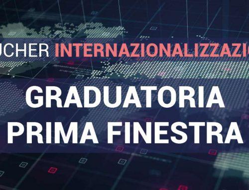 Graduatoria prima finestra di Voucher Internazionalizzazione, spostate alcune date