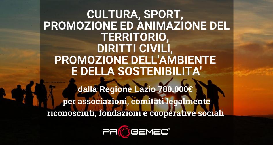 Contributi per la realizzazione di iniziative di promozione della cultura e dello sport, di animazione territoriale e di inclusione sociale