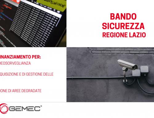 Bando Regione Lazio per sistemi di sorveglianza e gestione delle informazioni