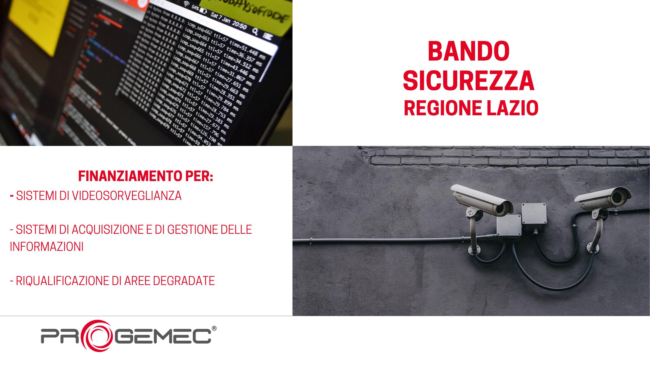 Bando sicurezza Regione Lazio