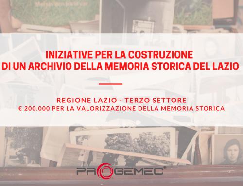 Bando Regione Lazio: Iniziative per la costruzione di un archivio della memoria storica del Lazio
