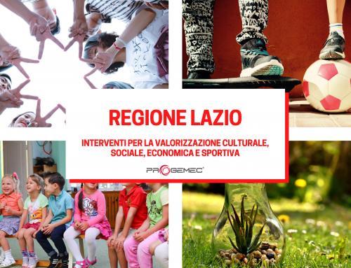 """Bando Regione Lazio """"Programma per la concessione di contributi economici a sostegno di iniziative idonee a valorizzare sul piano culturale, sportivo, sociale ed economico la collettività regionale"""""""