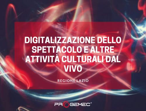 """Bando Regione Lazio """"Digitalizzazione dello Spettacolo e delle altre Attività Culturali dal Vivo"""""""