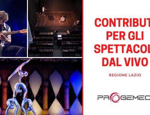 """Bando Regione Lazio """"Contributi agli spettacoli dal vivo per l'annualità 2021"""""""