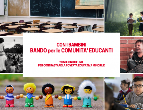 """Con i Bambini – """"Bando per le Comunità Educanti"""""""