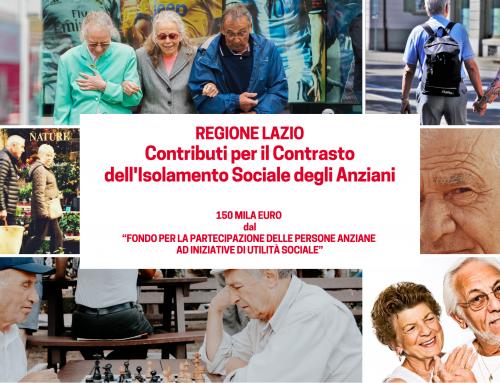 Regione Lazio: contributi per il contrasto dell'isolamento sociale degli anziani