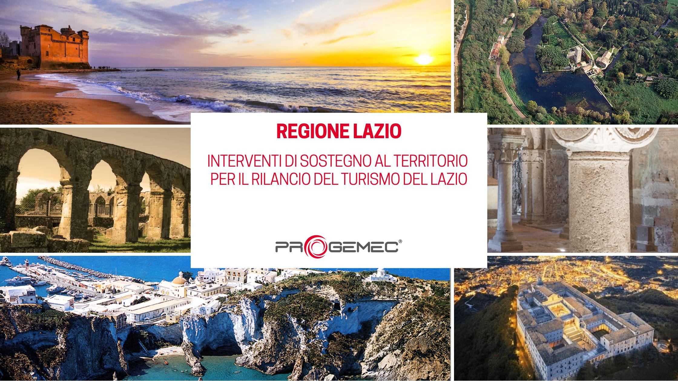 Regione Lazio: rilancio del turismo del Lazio, interventi di sostegno al territorio