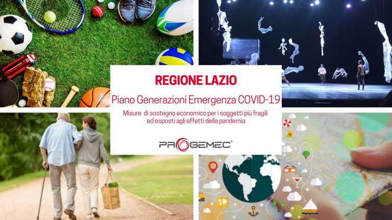 Regione Lazio - Misure di sostegno economico