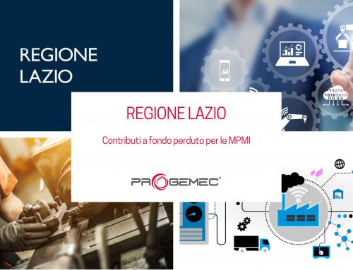 Regione Lazio, Contributi a fondo perduto per le MPMI