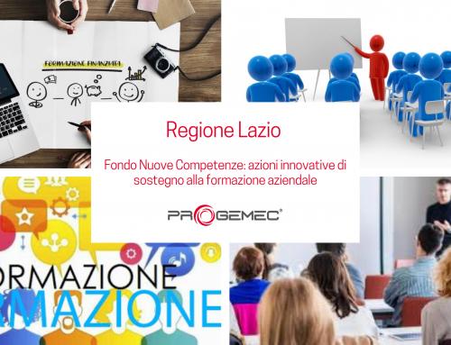 Fondo Nuove Competenze Regione Lazio